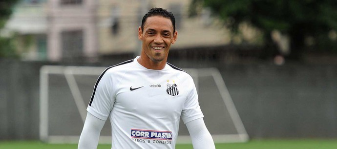 Ricardo Oliveira, atacante do Santos Futebol Clube (Foto: Ivan Storti)