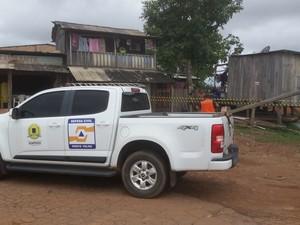 Defesa Civil Municipal interditou oito residências que estão em área de risco (Foto: Toni Francis/G1)
