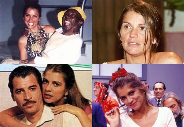 A atriz em diversos momentos de sua carreira (Foto: TV Globo / Divulgaçaõ e Reprodução)