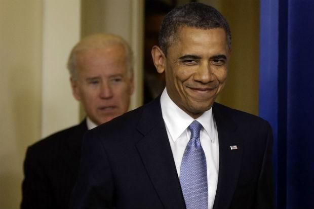 """O presidente dos Estados Unidos, Barack Obama, falou à imprensa depois da aprovação do projeto legislativo destinado a cancelar os efeitos do chamado """"abismo fiscal"""" (Foto: Charles Dharapak/AP)"""