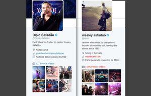 """Depois de Diplo """"virar"""" Wesley Safadão no Twitter, cantor responde assumindo nova identidade: Diplo Safadão"""