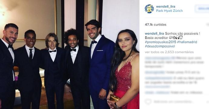 Wendell Lira posta fotos com astros em rede social (Foto: Reprodução/ Instagram)
