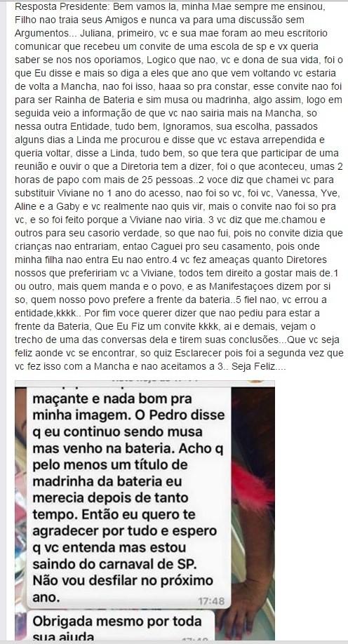 Paulo Serdan rebate resposta de Juju Salimeni (Foto: Reprodução/Facebook)