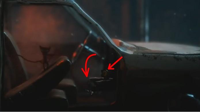 Até mesmo nos carros de Unravel as pessoa esquecem coisas no porta-luvas, como um botão escondido (Foto: Reprodução/Rafael Monteiro)