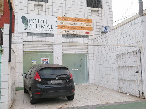 Após acidente aéreo, clínica veterinária Point Animal funciona normalmente (Foto: Mariane Rossi/G1)