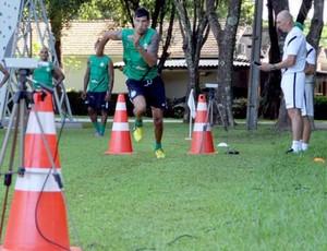 Escudero durante a pré-temporada do Coritiba, em Foz do Iguaçu (Foto: Divulgação / Site oficial do Coritiba)