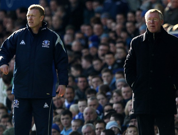 David Moyes everton e Alex ferguson manchester united (Foto: Agência Getty Images)