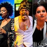 Carlinhos Brown, Lazzo Matumbi, Elen Oléria e Larissa Luz (Foto: Divulgação)