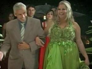 Veja como era o vestido de Danielle (Foto: Mais Você / TV Globo)