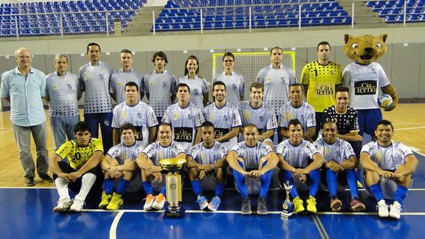 Equipe de futsal do Minas Tênis (Foto: Valeska Silva / Globoesporte.com)