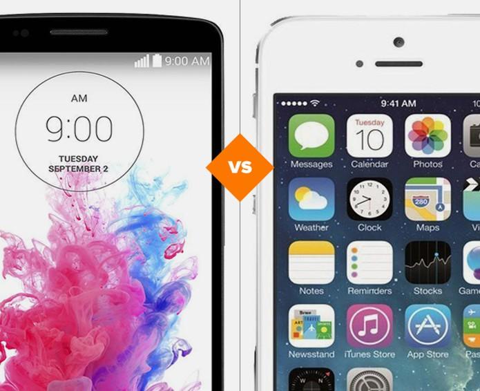 LG G3 ou iPhone 5S? Decida qual smart levar para casa (Foto: Arte/TechTudo)