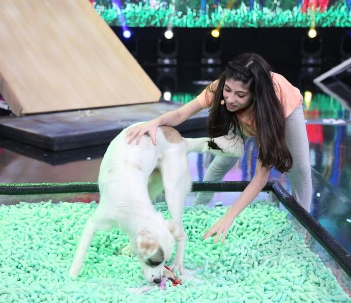 Guli deu show de simpatia no palco (Foto: Carol Caminha/Gshow)