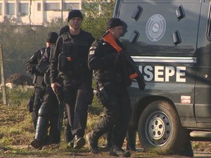Susepe procura por detento foragido (Foto: Reprodução/RBS TV)