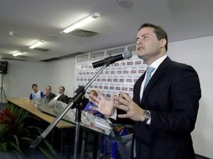 Governador fala em solenidade sobre implantação do ensino integral (Foto: Márcio Ferreira/Agência Alagoas)