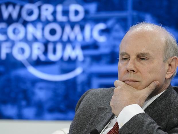 Ministro Guido Mantega participa de debate sobre os Brics nesta quinta-feira, em Davos (Foto: AP)