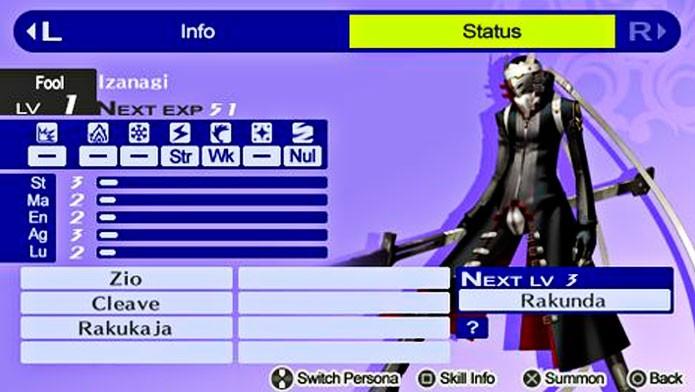 Izanagi é a primeira Persona do protagonista (Foto: Divulgação)