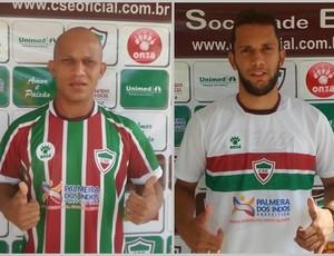 Eduardo Recife e Betão, reforços do CSE (Foto: Romário Silva / Assessoria CSE)