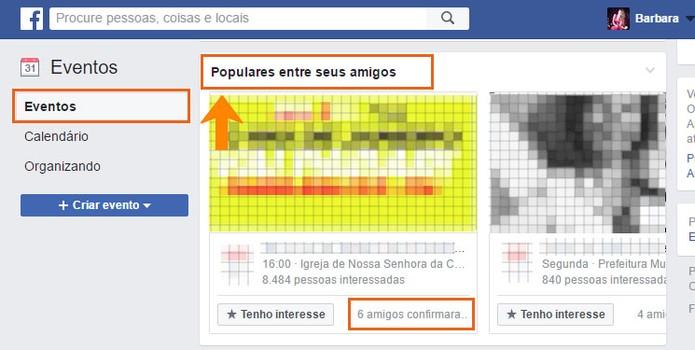 Veja os eventos mais populares entre seus amigos do Facebook (Foto: Reprodução/Barbara Mannara)