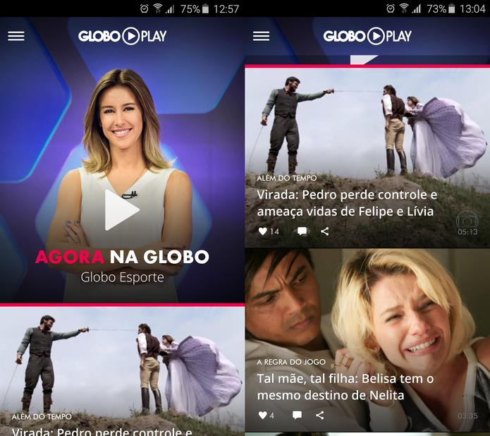 Globo Play permite ver a programação da Globo ao vivo no Android, iPhone e PC (Foto: Reprodução/TechTudo)
