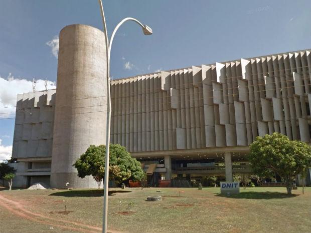Fachada da sede do DNIT, em Brasília (Foto: Google/Reprodução)