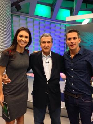 Parreira com Ivan Moré e Glenda (Foto: TV Globo)