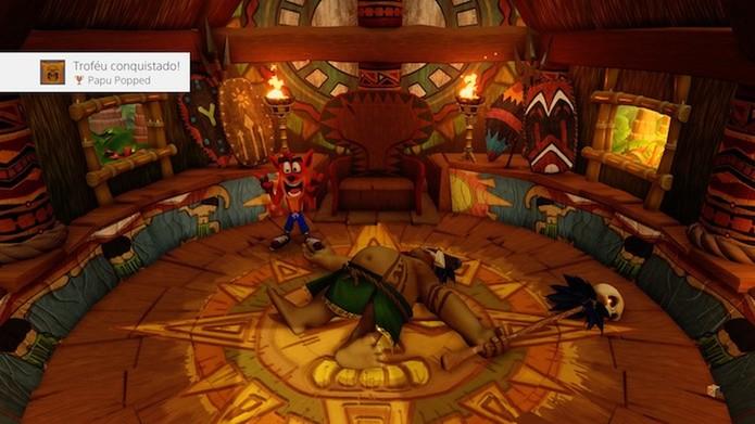 Crash Bandicoot N. Sane Trilogy: jogabilidade funciona como no PS1 (Foto: Reprodução/Victor Teixeira)
