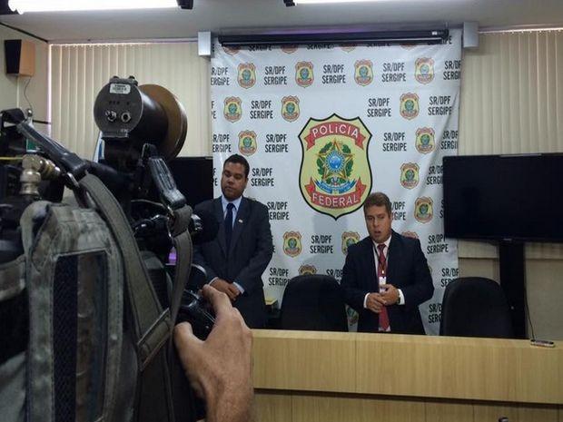 Polícia Federal detalha operação realizada em Sergipe  (Foto: Tasssio Andrade/G1)