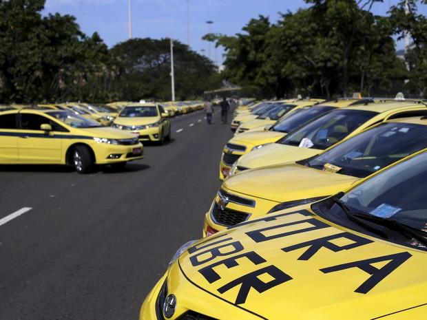 """Aplicativo tem gerado """"ira"""" de taxistas tradicionais em todo o mundo, inclusive no Brasil (Foto: REUTERS/Ricardo Moraes)"""