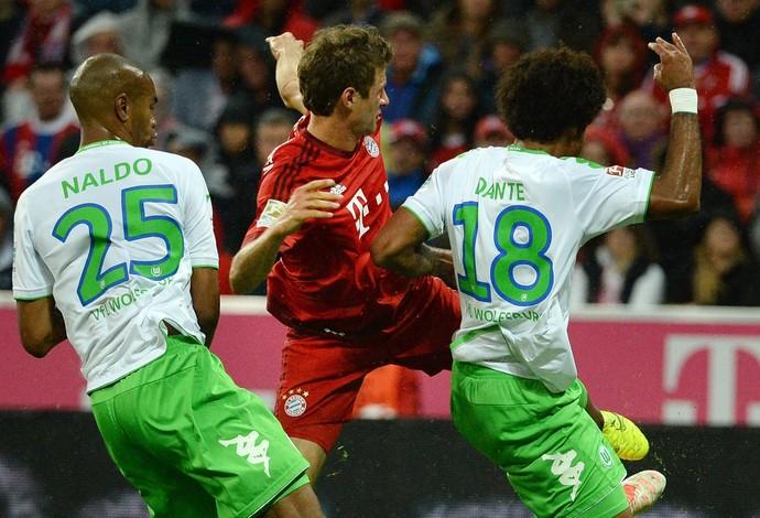 Dante Wolfsburg Bayern de Munique (Foto: EFE)