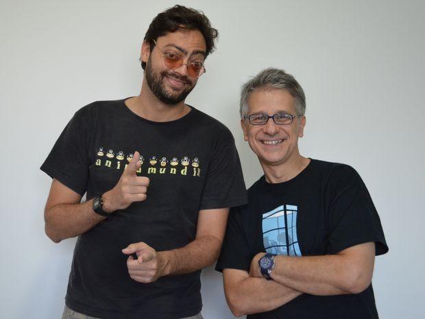 Fernando Caruso e Cláudio Torres da peça 'Comédia em Pé' se apresentam em Aracaju (Foto: Marina Fontenele/G1 SE)