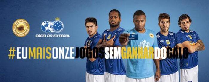 Depois de derrota no clássico, torcedores postam montagens para provocar o Cruzeiro