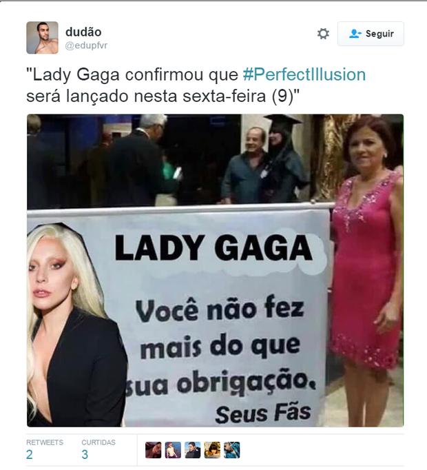 Lady Gaga anuncia o lançamento de 'Perfect Illusion'