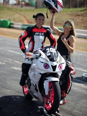 Vanessa pilotava uma moto de 600cc no momento do acidente (Foto: Divulgação/Facebook)