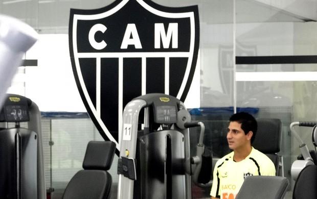 Danilinho atlético-mg musculação (Foto: Lucas Catta Prêta / Globoesporte.com)