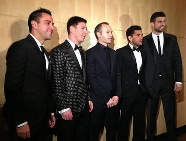 jogadores Barcelona Bola de Ouro (Foto: Reprodução / Twitter)