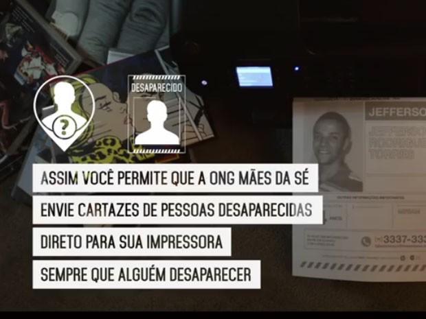 Case da FCB Brasil ajudou a imprimir cartazes de desaparecidos. (Foto: Reprodução/YouTube)