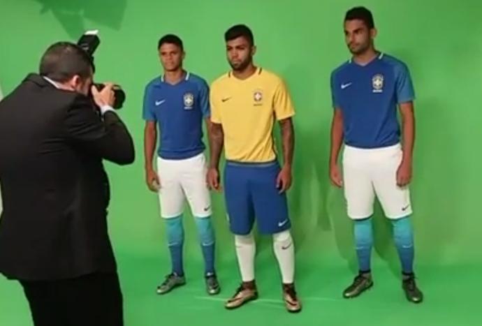 Frame novos uniformes seleção (Foto: Reprodução)