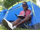 Longe da folia, jovens fazem retiro espiritual (Thiago França/G1)