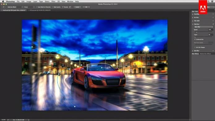 Photoshop CC 2014 ganhou novos efeitos de desfoque e melhoria no trabalho com textos (Foto: Reprodução/Adobe)
