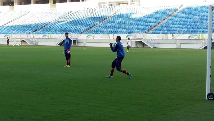 América-RN - Daniel e Ewerton, goleiros (Foto: Jocaff Souza/GloboEsporte.com)