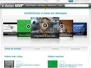 e-Aulas USP videoaulas aulas em vídeo (Foto: Reprodução)