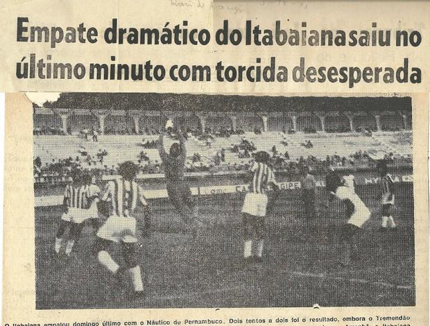 Itabaiana campeão do Nordeste de 1971 (Foto: Arquivo de Fefi)