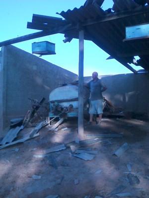 Tornado em Limeira (Foto: Gabriella Maaz/Acervo pessoal)