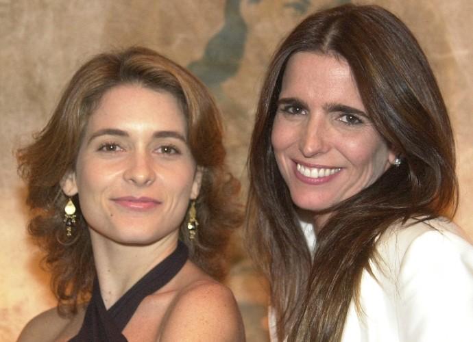Com Claúdia Abreu, em Celebridade. Claúdia era a vilã Laura e Malu a mocinha Maria Clara (Foto: Cdoc/TV Globo)