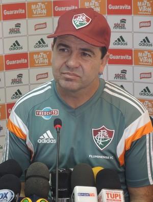 Enderson Moreira coletiva Fluminense (Foto: Igor Rodrigues)