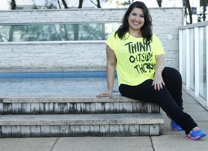 Mariana Xavier comenta a moda fitness (Foto: Raphael Dias/Gshow)