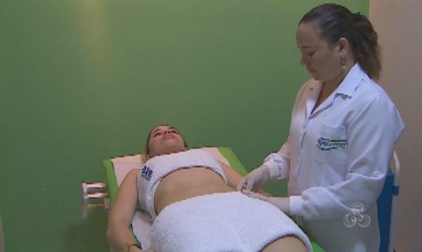 Massagens para emagrecimento são as mais procuradas (Foto: Amazônia TV)