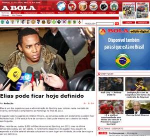 Reprodução site A Bola Elias (Foto: Reprodução)