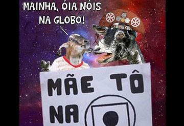 Bode Gaiato faz homenagem à Rede Globo. (Foto: Reprodução)