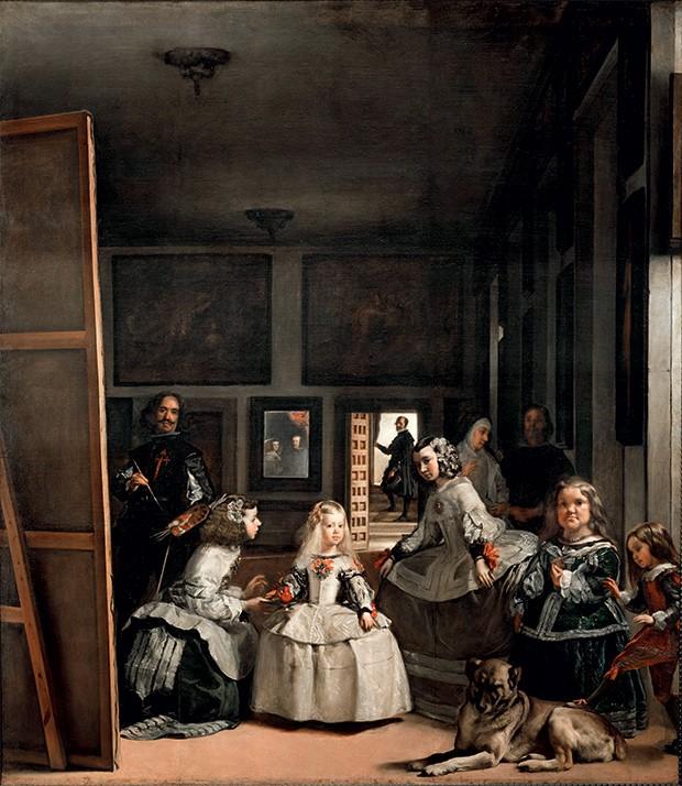 As meninas 1656 Neste quadro essencial, mas ausente da exposição, o pintor se retrata ao lado da infanta, afrontando o protocolo real (Foto: Divulgação)